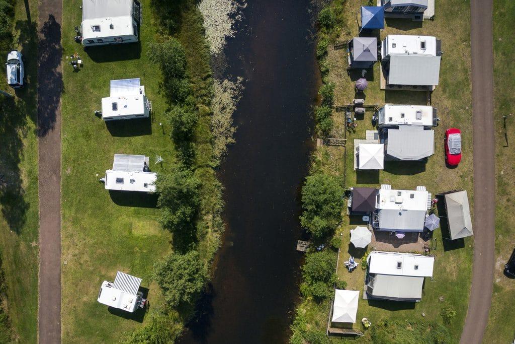 Flygbild på Rättviks Camping