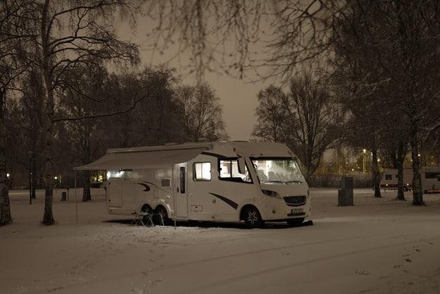 Vintermys på Gustavsviks camping.