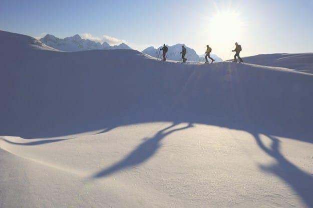 I närheten av skidorten Lech.