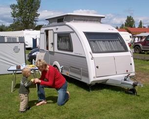 Nyere brugte campingvogne har en tæthedsgaranti – ofte fem til seks år