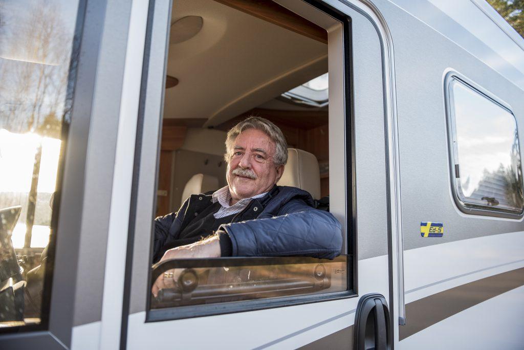 Börje Svärdström, riksordförande i Caravan Club.