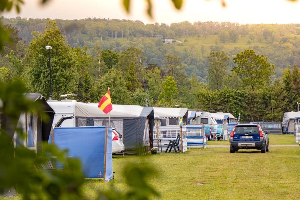 Campinglivet i Båstad.