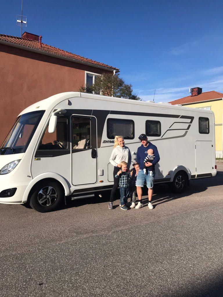 Färden gick till Lysekil på västkusten med en Hymer husbil.
