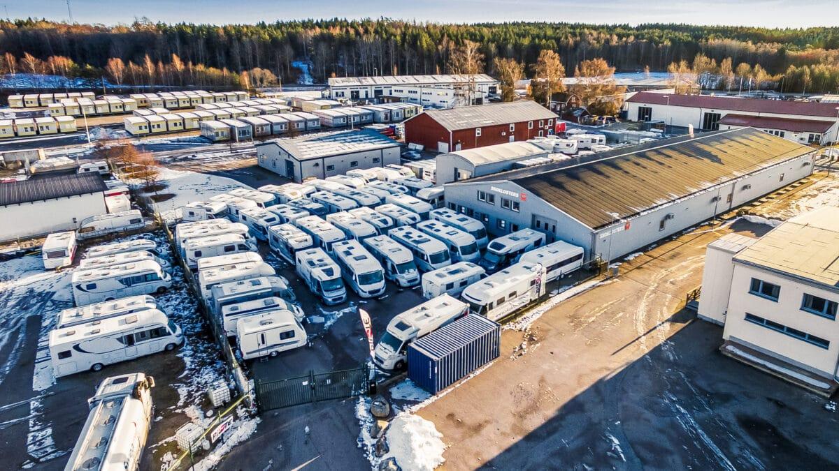 Skoklosters Husbilar & Husvagnars anläggning i Bålsta.