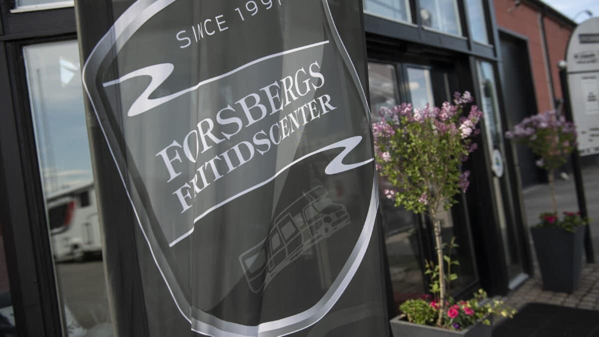 Nya husbilsmärken hos Forsbergs Fritidscenter.