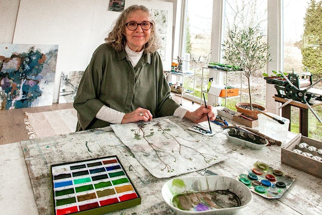 Maria Drott ingår i Åkerbokonstnärerna, en av de äldsta nu aktivakonstnärsgrupperna i Sverige.