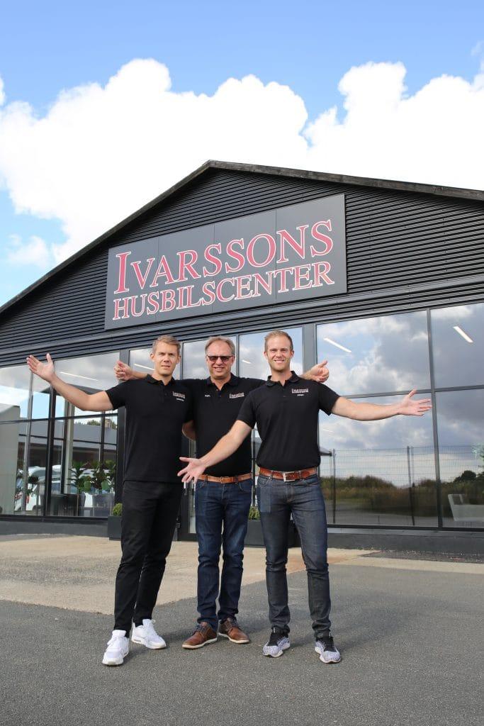 Ivarsson Husbilscenter är ett familjeföretag som drivs av Anders Ivarsson och hans söner Johan och Johannes. Även hustrun Kristina jobbar i företaget.