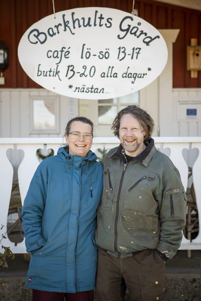 Barkhults gård drivs av Lars Peterson och Kristin Markebo.