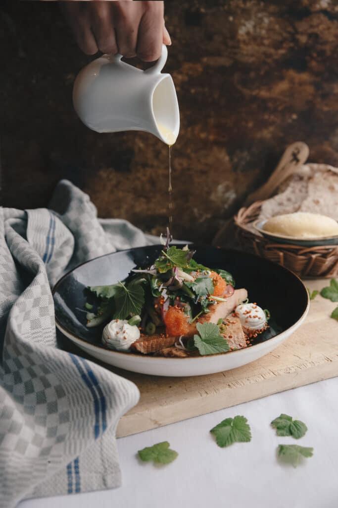 Granö är känt för sitt kök. Det är lokala råvaror som gäller och säsongen avgör utbudet.