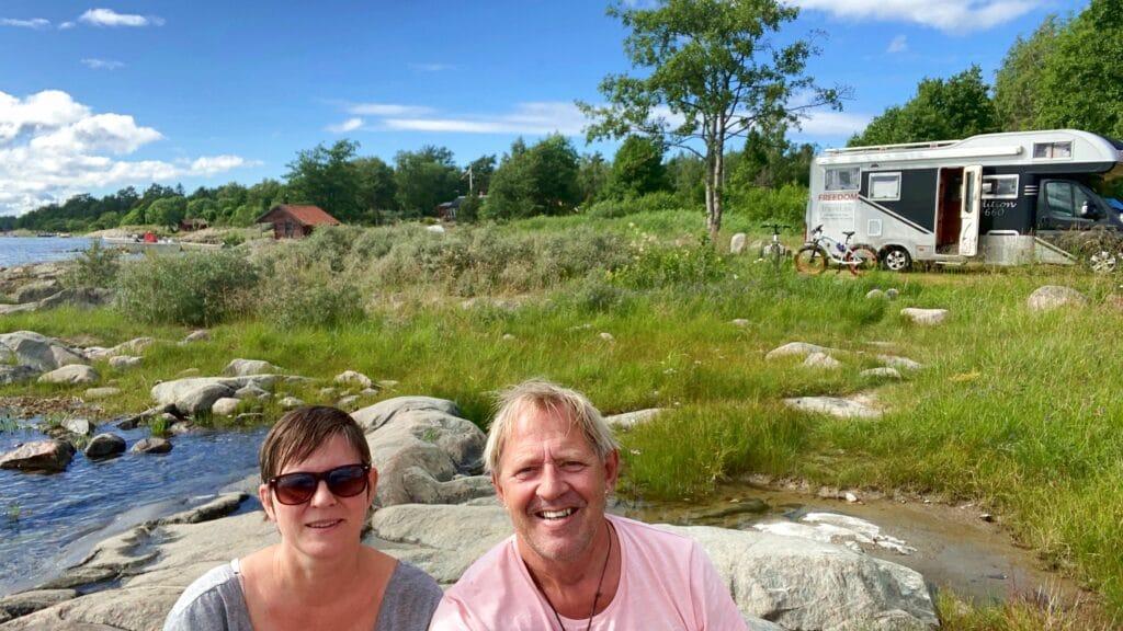 Helena och Peter på Gräsö utanför Öregrund