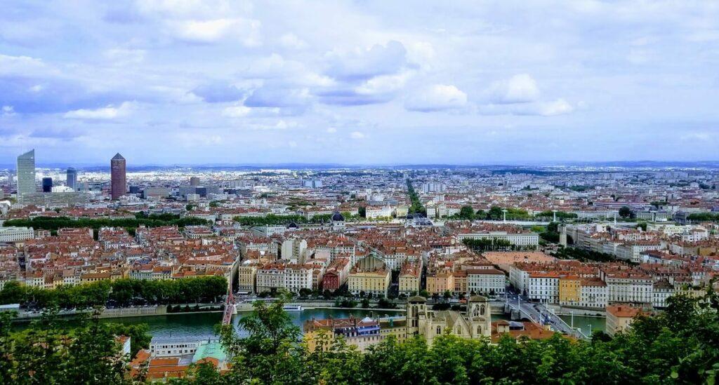 I Lyon steg temperaturen till över 40 grader.