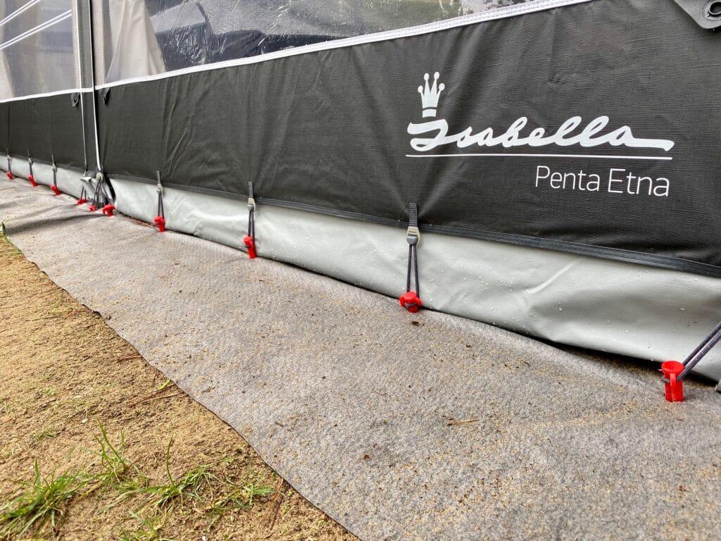 Med Ground cover hålls förtältet rent och fint.
