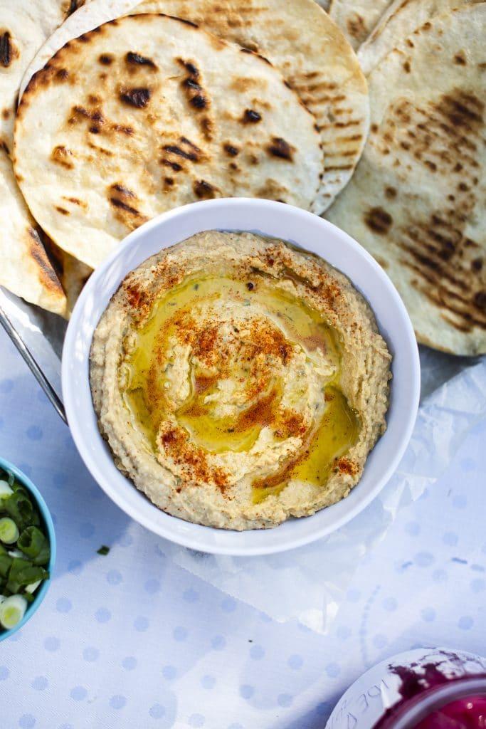 Hummus. Perfekt som dippsås till grönsaker och bröd.