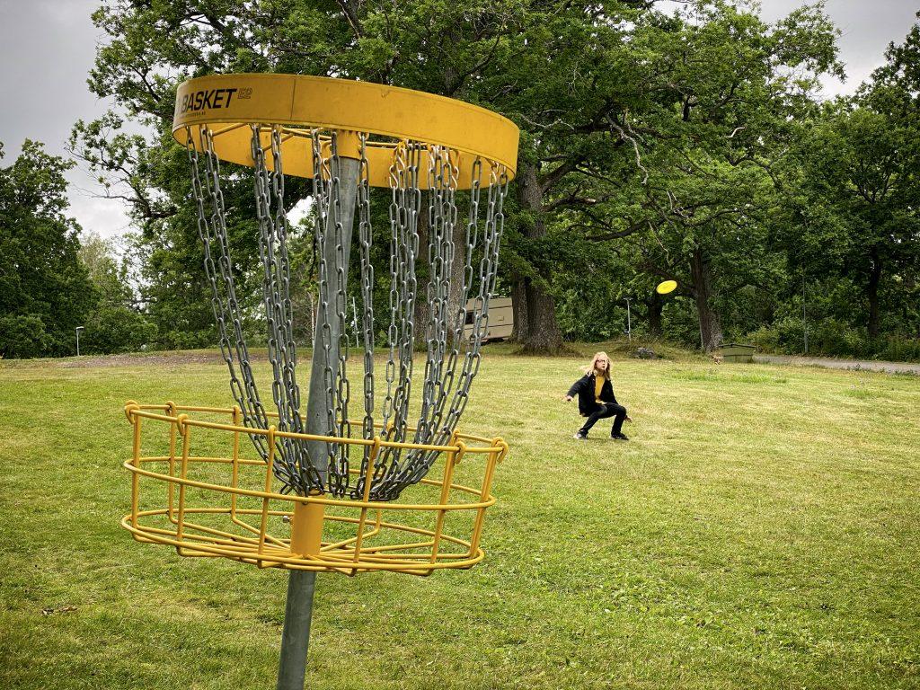 ...och frisbeegolf.