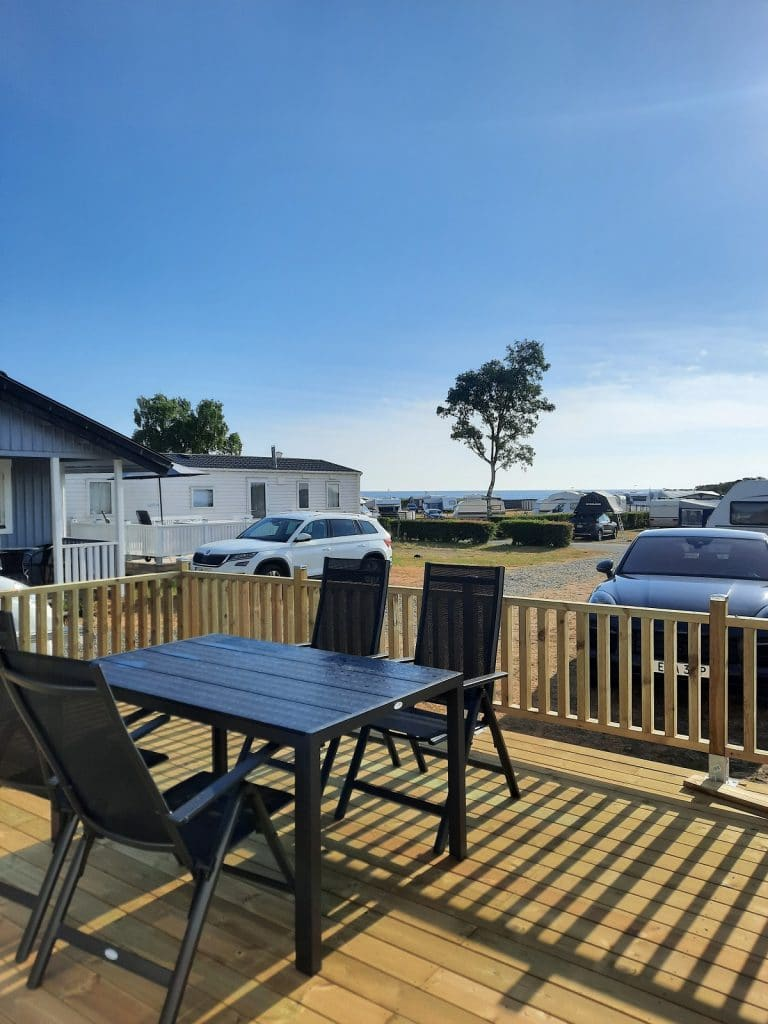 Tobisviks Camping i Simrishamn har fått två nya fullutrustade campingstugor.