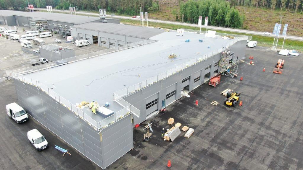 Den nya verkstaden är 2000 kvm stor och har 20 fordonsplatser.