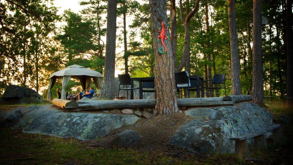 Hornåbergs camping har en rogivande och unik atmosfär.
