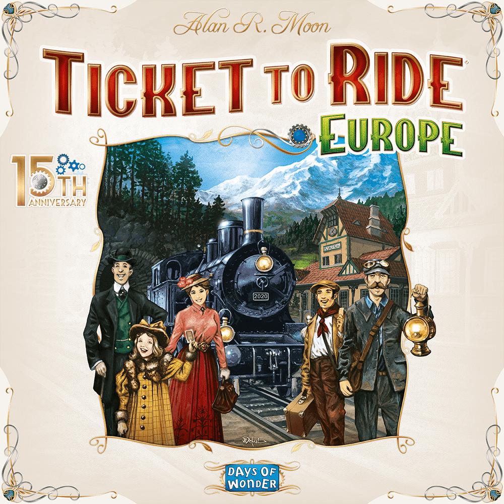 Ticket to ride Europe. Jubileumsutgåva.